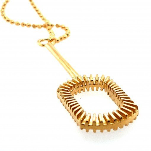 Silver Pendant with Gold Plate by Sheffield Silversmith and Jeweller Rebecca Joselyn