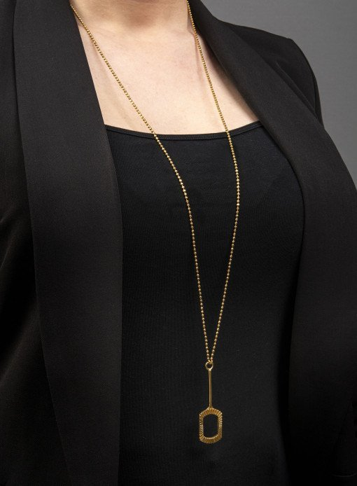 Silver Pen Top Pendant Necklace with Gold Plate Sheffield Silversmith and Jeweller Rebecca Joselyn