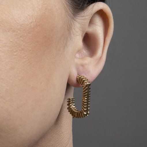 Gold on Silver Bubble Earrings by Rebecca Joselyn