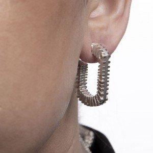 Silver Bubble Blower Earrings by Sheffield Silversmith and Jeweller Rebecca Joselyn