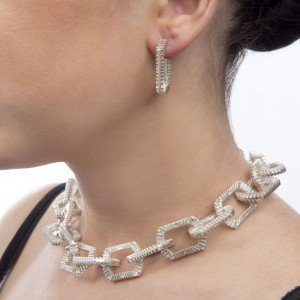 Silver Chain Necklace Silver Zip Bracelet by Silversmith and Jeweller Rebecca Joselyn