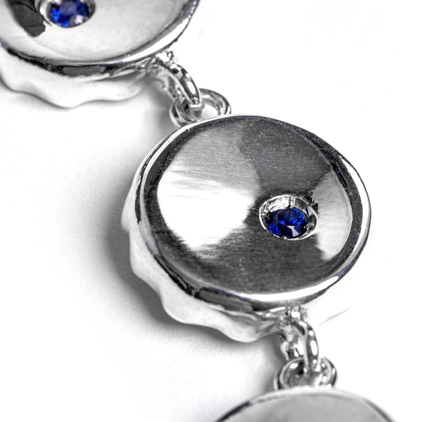 Sterling Silver Bottle Top Necklace by Silversmith and Jeweller Rebecca Joselyn
