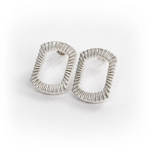 Silver Bubble Blower Earrings by Silversmith and Jeweller Rebecca Joselyn