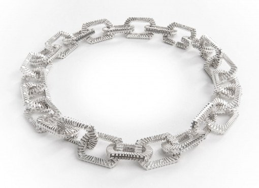 Silver Bubble Blower Chain Necklace Silver Zip Bracelet by Silversmith and Jeweller Rebecca Joselyn