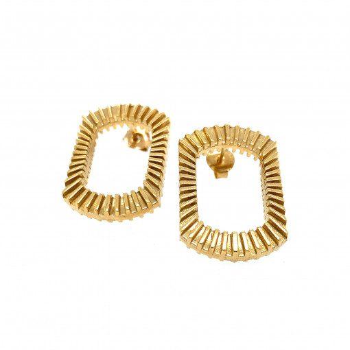 Gold Plate Bubble Blower Earrings by Sheffield Silversmith and Jeweller Rebecca Joselyn