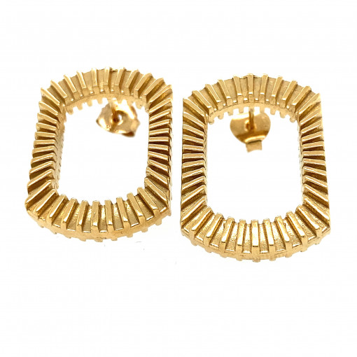 Silver and Gold Plate Bubble Blower Earrings by Silversmith and Jeweller Rebecca Joselyn