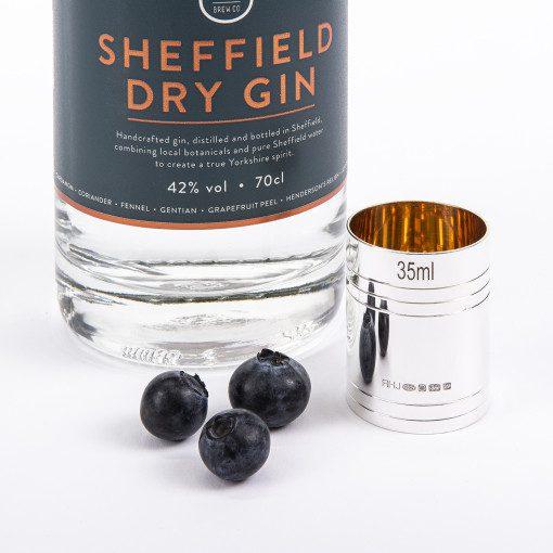 Silver '35ml Spirit Measure' by Rebecca Joselyn handmade silverware piece made in Sheffield