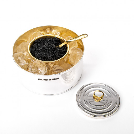 Silver Caviar dish' by Sheffield Silversmith and Jeweller Rebecca Joselyn