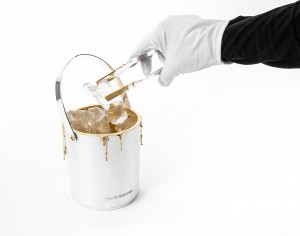 Silver Ice Bucket with ice by Rebecca Joselyn