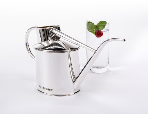 Silver 'Watering Can' by Sheffield Silversmith and Jeweller Rebecca Joselyn