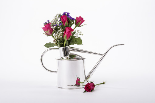 Silver 'Watering Can vase' by Sheffield Silversmith and Jeweller Rebecca Joselyn